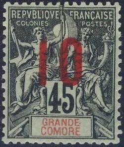 Timbre Comores 1910