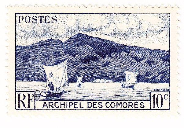 Timbre Comores 1950