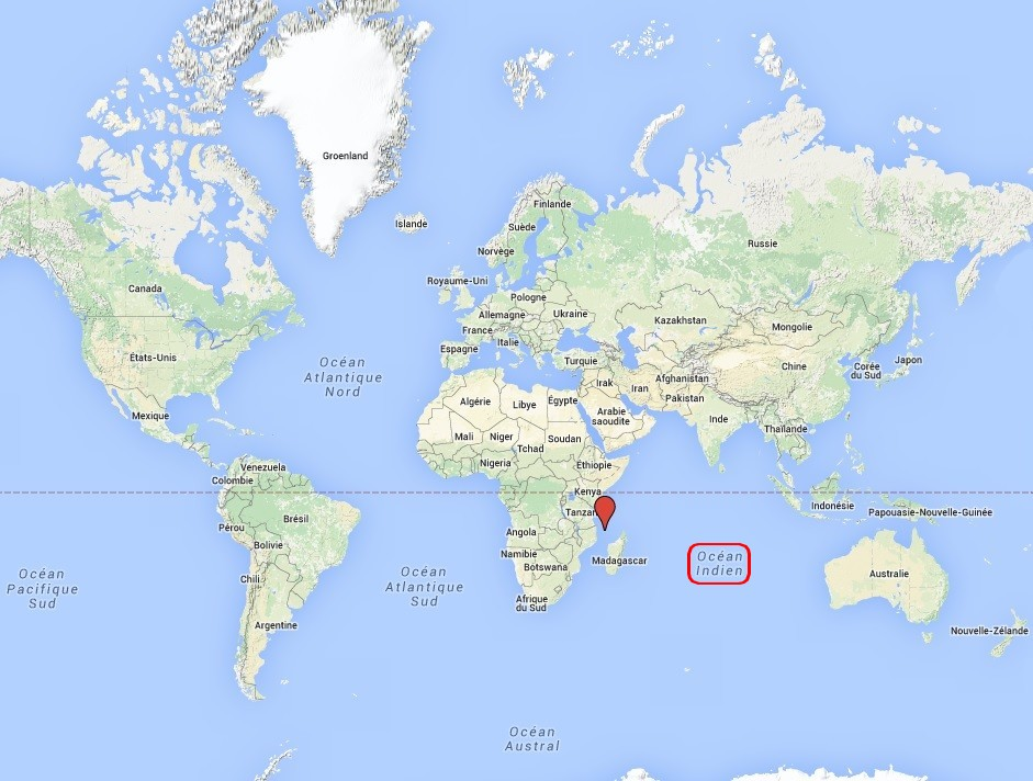 Localisation des Comores Carte n°1